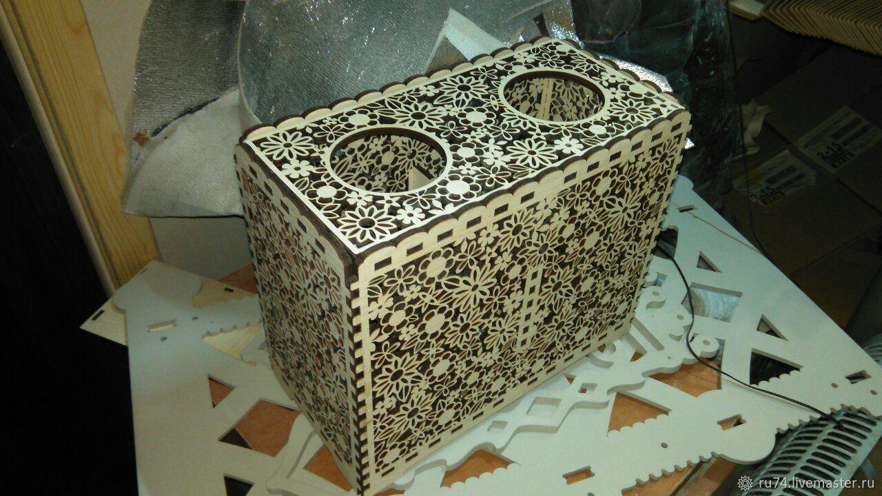 Декоративная ваза-короб для цветов (под две 3х-литровые банки), Вазы, Челябинск, Фото №1