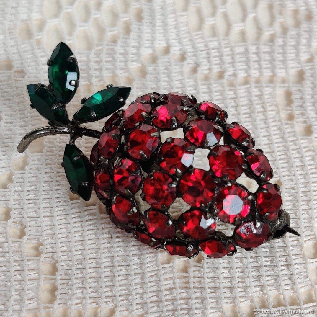 Strawberry brooch Austria 50-60gg, Vintage brooches, Ramenskoye,  Фото №1