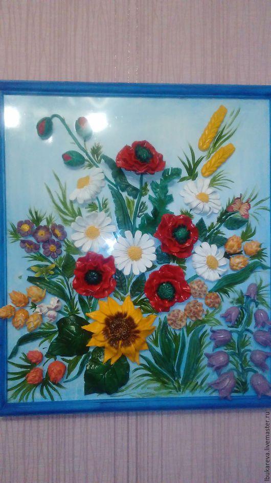 """Картины цветов ручной работы. Ярмарка Мастеров - ручная работа. Купить Панно """"Лето"""". Handmade. Панно на стену, картина для интерьера"""