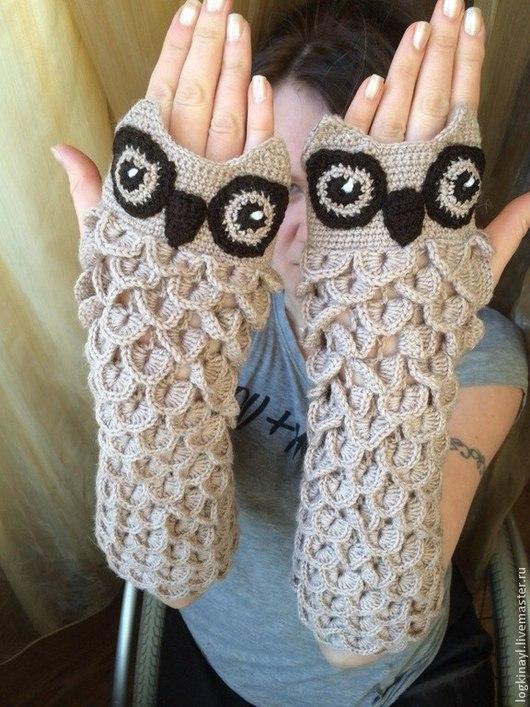 Варежки, митенки, перчатки ручной работы. Ярмарка Мастеров - ручная работа. Купить Перчатки весенние, митенки женские. Handmade.