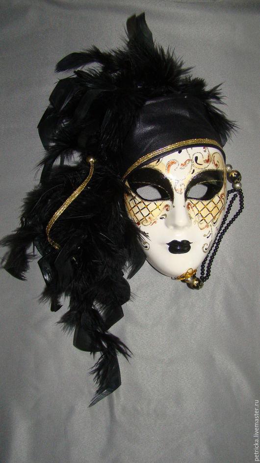 Интерьерные  маски ручной работы. Ярмарка Мастеров - ручная работа. Купить Марселла  (маска-декор). Handmade. Маска, украшение для интерьра