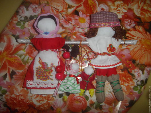 Народные куклы ручной работы. Ярмарка Мастеров - ручная работа. Купить Свадебный оберег Неразлучники. Handmade. Красный, свадебные куклы