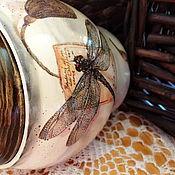 Для дома и интерьера ручной работы. Ярмарка Мастеров - ручная работа Горшочек из липы. Handmade.