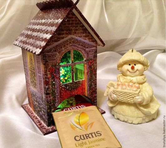 """Кухня ручной работы. Ярмарка Мастеров - ручная работа. Купить Чайный домик """"Рождество"""". Handmade. Подарок женщине, подарок, зима"""