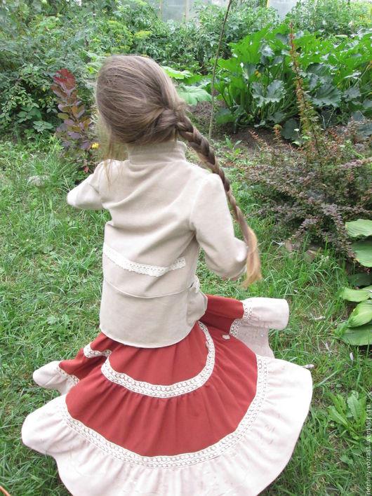 """Одежда для девочек, ручной работы. Ярмарка Мастеров - ручная работа. Купить Юбки детские """" Бохо"""". Handmade. Комбинированный"""