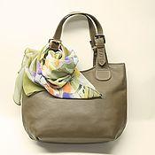 Классическая сумка ручной работы. Ярмарка Мастеров - ручная работа Кожаная сумка женская оливковая. Handmade.