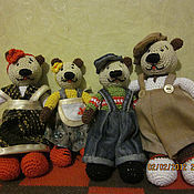 Куклы и игрушки ручной работы. Ярмарка Мастеров - ручная работа Вязанные медвежата. Handmade.