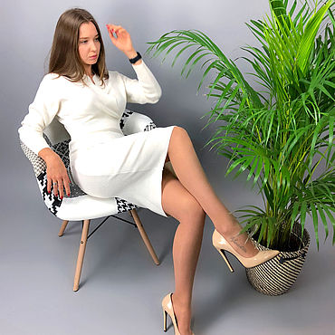 Одежда ручной работы. Ярмарка Мастеров - ручная работа Платье вязаное - цвет и размер любые. Handmade.