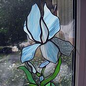Для дома и интерьера ручной работы. Ярмарка Мастеров - ручная работа Витражный подвес Ирис. Handmade.