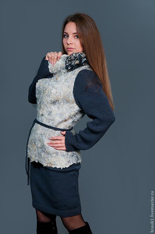 Пиджаки, жакеты ручной работы. Ярмарка Мастеров - ручная работа. Купить Grafite. Handmade. Темно-серый, стильный, стильный подарок