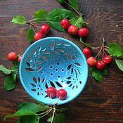 """Посуда ручной работы. Ярмарка Мастеров - ручная работа Кофетница """"Голубой цветок"""" Хюгге. Handmade."""