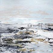 Картины и панно handmade. Livemaster - original item Interior painting North sea in the style of hygge. Handmade.