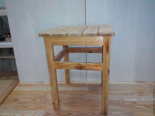Мебель ручной работы. Ярмарка Мастеров - ручная работа. Купить Табурет с эффектом старения. Handmade. Натуральные материалы, экологично, для дачи