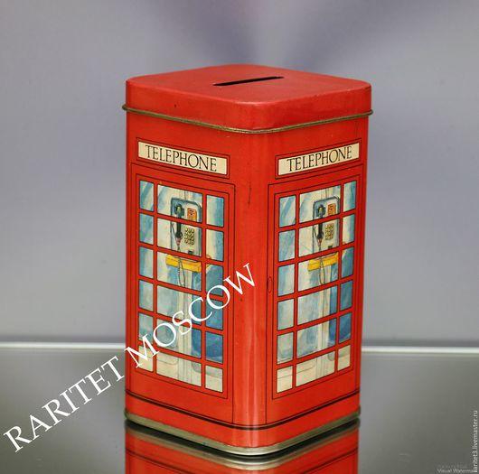 Винтажные предметы интерьера. Ярмарка Мастеров - ручная работа. Купить Телефонная будка телефон банка Англия 4. Handmade. лондон