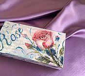 Подарки к праздникам ручной работы. Ярмарка Мастеров - ручная работа Купюрница Роза. Handmade.