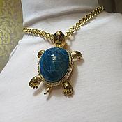 """Украшения ручной работы. Ярмарка Мастеров - ручная работа Кулон """"Голубая черепашка"""". Handmade."""