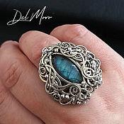 Украшения handmade. Livemaster - original item Women`s ring ring with labradorite blue