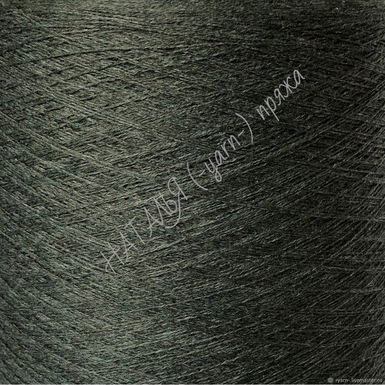 Пряжа Кашемир 2/27 зелено-серый – купить на Ярмарке Мастеров – KI9VYRU   Пряжа, Санкт-Петербург