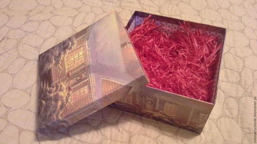 Упаковка ручной работы. Ярмарка Мастеров - ручная работа. Купить Бумажный наполнитель для подарка 3 ЦВЕТА. Handmade. Ярко-красный