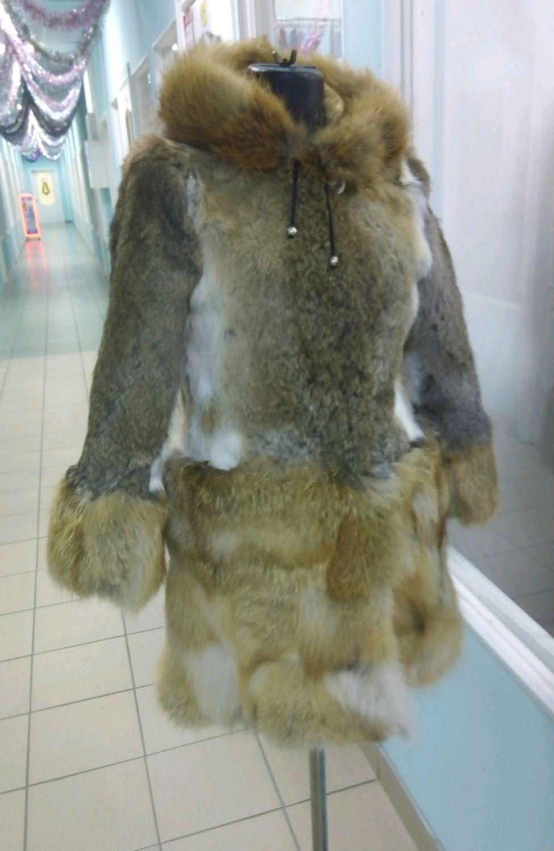 Детская шуба из меха лисы и кролика, Верхняя одежда, Омск, Фото №1