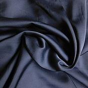 Ткани ручной работы. Ярмарка Мастеров - ручная работа Шелк Армани Темный синий. Handmade.