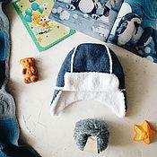 Работы для детей, ручной работы. Ярмарка Мастеров - ручная работа Шапка-ушанка. Handmade.