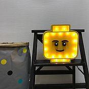 Для дома и интерьера ручной работы. Ярмарка Мастеров - ручная работа Светильник ночник Лего (Lego). Handmade.