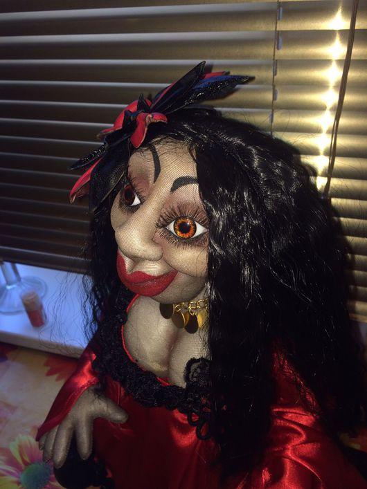 Коллекционные куклы ручной работы. Ярмарка Мастеров - ручная работа. Купить Кукла интерьерная из капрона Цыганка. Handmade. Праздник