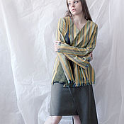 Одежда handmade. Livemaster - original item Tunic in elegant stripes of Golden-yellow wool. Handmade.