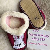 Обувь ручной работы handmade. Livemaster - original item Slippers-chuvaki teenage lambskin. Handmade.