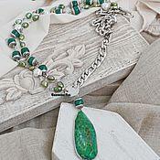 Украшения handmade. Livemaster - original item Necklace with chain, pendant and coin