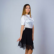 Одежда handmade. Livemaster - original item Skirt, skirt with French lace 2, elegant skirt, MIDI skirt. Handmade.