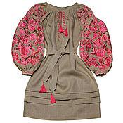 "Dresses handmade. Livemaster - original item Платье-вышиванка ""Чудо-Дерево"". Handmade."