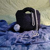 """Классическая сумка ручной работы. Ярмарка Мастеров - ручная работа Женская сумка """"Летняя ночка """". Handmade."""