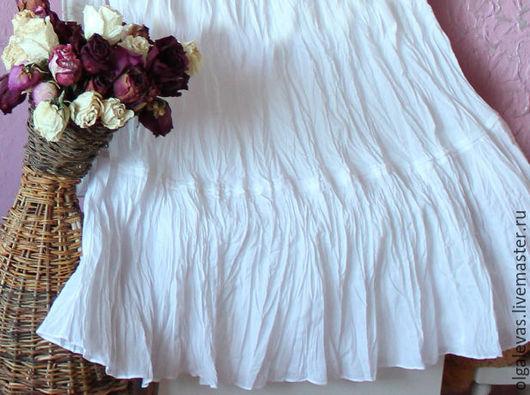 Юбки ручной работы. Ярмарка Мастеров - ручная работа. Купить Юбка бохо нижняя  Очаровательная. Handmade. Белый, юбки