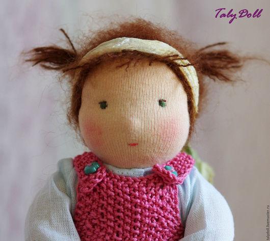 Вальдорфская игрушка ручной работы. Ярмарка Мастеров - ручная работа. Купить Вальдорфская кукла Розочка, 17 см. Handmade. Коралловый