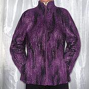 "Одежда ручной работы. Ярмарка Мастеров - ручная работа Валяная куртка ""Баклажан"". Handmade."