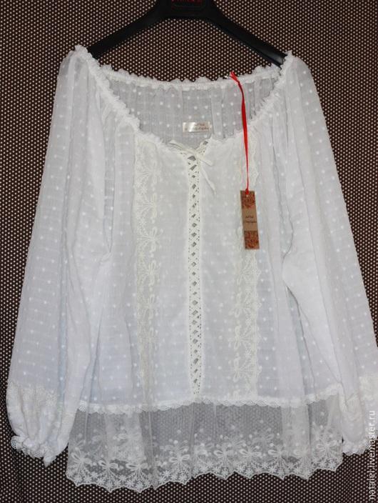 Блузка кружево хлопок купить