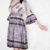 Одежда ручной работы. Ярмарка Мастеров - ручная работа Шёлковое платье в Славянском стиле. Handmade.