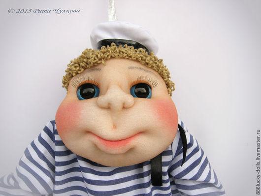 Человечки ручной работы. Ярмарка Мастеров - ручная работа. Купить Попик мужчина моряк - кукла на удачу. 23 февраля подарок. Handmade.