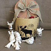 Подарки к праздникам ручной работы. Ярмарка Мастеров - ручная работа Набор елочных игрушек N3. Handmade.