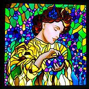 Картины и панно handmade. Livemaster - original item Painting with light/ stained glass painting /stained glass window backlit Wisteria. Handmade.