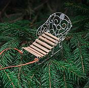 Сувениры и подарки ручной работы. Ярмарка Мастеров - ручная работа Сани - елочное украшение. Handmade.