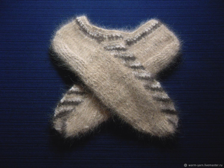 Men's knitted slippers, Socks, Klin,  Фото №1