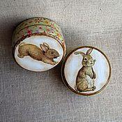 """Для дома и интерьера ручной работы. Ярмарка Мастеров - ручная работа Шкатулки """"Крольчата"""". Handmade."""