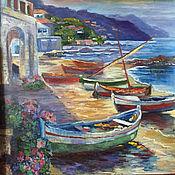 """Картины и панно ручной работы. Ярмарка Мастеров - ручная работа """"Солнечные Лодки"""", холст, масло. Handmade."""