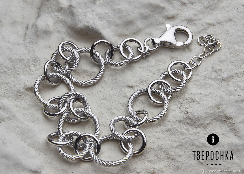 Silver fantasy bracelet handmade, Chain bracelet, Vladimir,  Фото №1