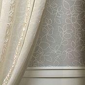 Для дома и интерьера ручной работы. Ярмарка Мастеров - ручная работа Рулонная штора + портьеры. Handmade.