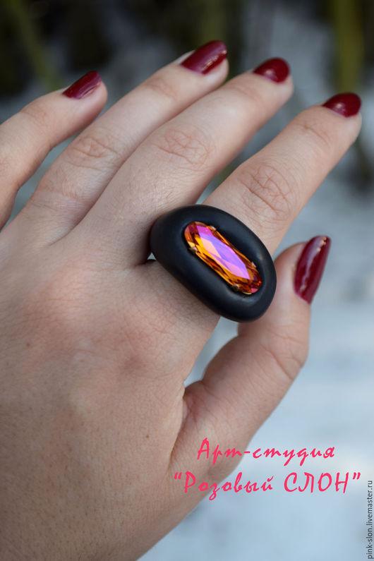 """Кольца ручной работы. Ярмарка Мастеров - ручная работа. Купить Кольцо """"Turn pink"""" , кольцо из полимерной глины.. Handmade."""