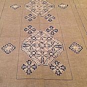 Для дома и интерьера ручной работы. Ярмарка Мастеров - ручная работа Скатерть льняная ручной вышивки. Handmade.